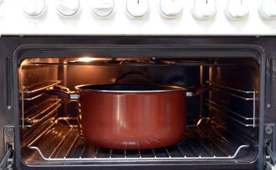 סיר עם בסיס עבה-כבד לבישול ארוך